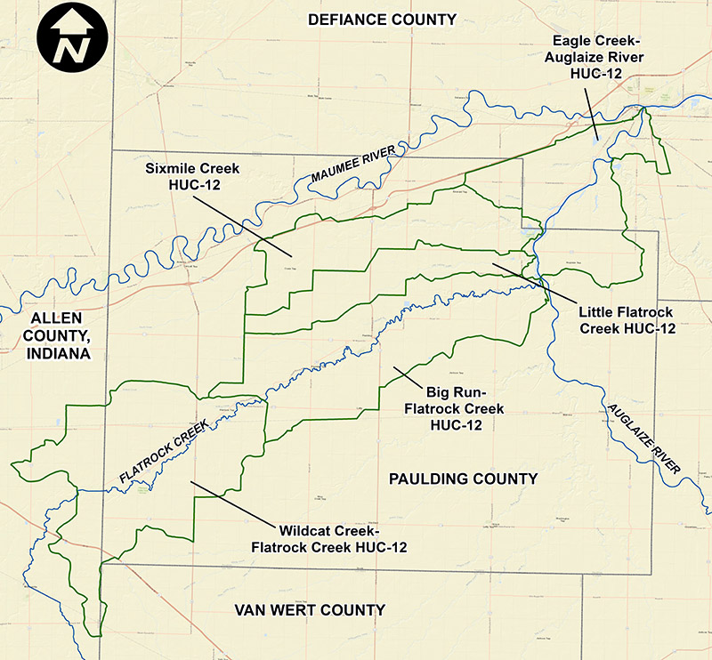 Map of Paulding County Nine-Element Plans
