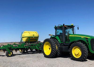 John Deere tractor pulling equipment