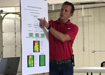 Jason Diller presenting at the Soil Health Lunch & Learn. July 2019